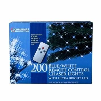 Benross 200 LED R/C Chaser Lights With Timer - Blue & White
