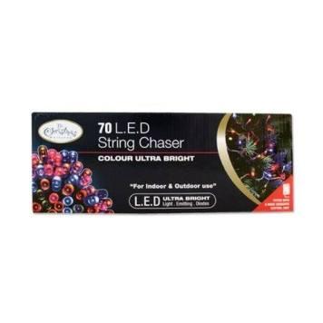 Benross Multi Coloured Ultra Bright LED String Chaser Lights - 70 LED