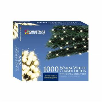 Benross Warm White Ultra Bright LED String Chaser Lights - 1000 LED