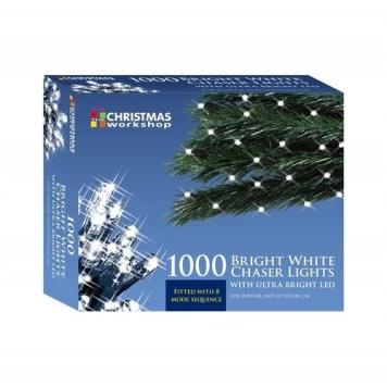 Benross White Ultra Bright LED String Chaser Lights - 1000 LED