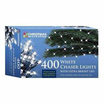 Benross White Ultra Bright LED String Chaser Lights - 400 LED