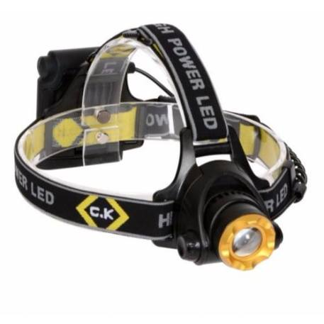 C.K Tools 200 Lumen Bright IP64 Rated Large LED Head Lamp Torch Flashlight