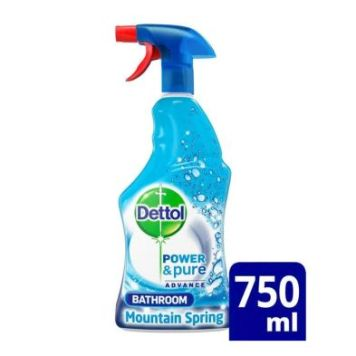 Dettol Power & Pure Advance Bathroom Cleaner Mountain Spring 750ml