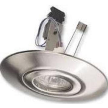 Eterna LED Compatible Recessed Downlight Hole Converter Lighting Fixture Kit - Brushed Metal
