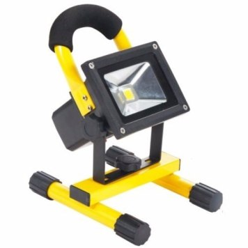 Eterna Rechargeable 10W 600 Lumens Bright IP65 LED Site Flood Light