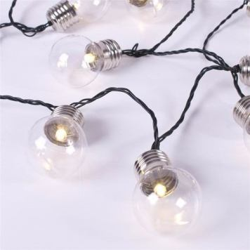 GardenKraft 50pc Warm White LED Indoor/Outdoor Display String Rope Light