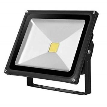 Kingavon Glass-Surface Black LED Floodlight - 10W
