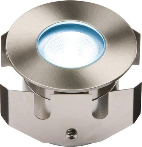 KnightsBridge 1W LED LV Stainless Steel Decking Light - Blue