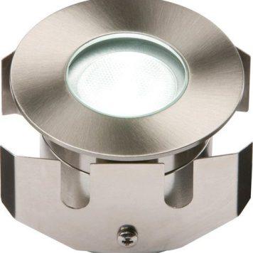 KnightsBridge 1W LED LV Stainless Steel Decking Light - White