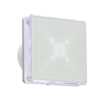 KnightsBridge 4 LED Backlit Wall & Ceiling Extractor Fan With Timer