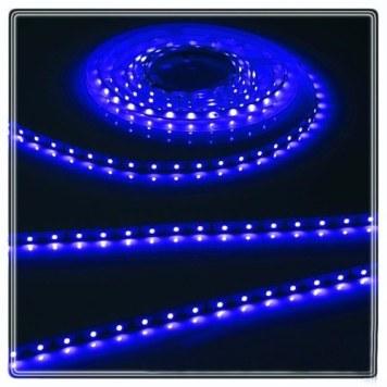 KnightsBridge Blue 12V LED IP20 Flexible Indoor Internal Rope Lighting Strip - 5 Meter