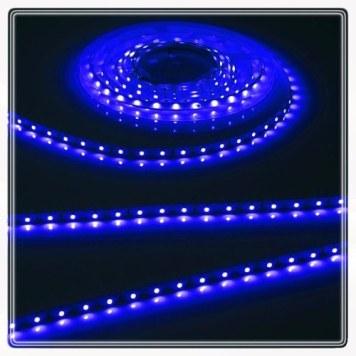 KnightsBridge Blue 12V LED IP67 Flexible Outdoor Rope Lighting Strip - 5 Meter