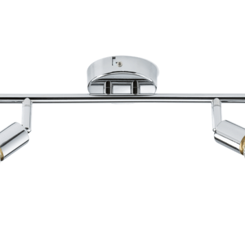 KnightsBridge Ceiling Light GU10 50 Watt 2 Spotlight Bar Chrome LED Compatible