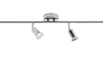 KnightsBridge Ceiling Light GU10 50 Watt 4 Spotlight Bar Chrome LED Compatible