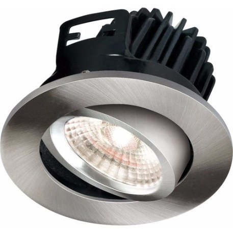 KnightsBridge FireKnight Tilt 7W IP20 LED Downlight With Brushed Chrome Bezel - Cool White