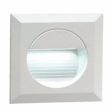 KnightsBridge IP54 Square LED Recessed Stair & Wall Guide Light - White