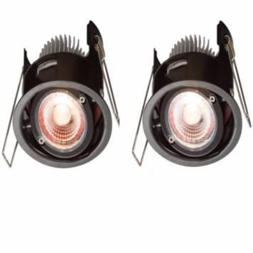 KnightsBridge ProKnight Tilted 8W IP65 LED Downlight With No Bezel - Warm White