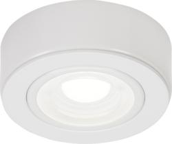 KnightsBridge Round LED Under Cabinet Fitting- Cool White - White