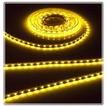 KnightsBridge Yellow 12V LED IP20 Flexible Indoor Internal Rope Lighting Strip - 5 Meter
