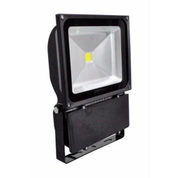 Lighthouse IP65 Ultra Efficient LED Black Aluminium Floodlight - 100 Watt