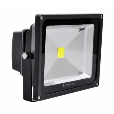 Lighthouse IP65 Ultra Efficient LED Black Aluminium Floodlight - 30 Watt