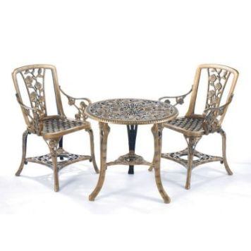 Rose Garden Armchair Set Bronze