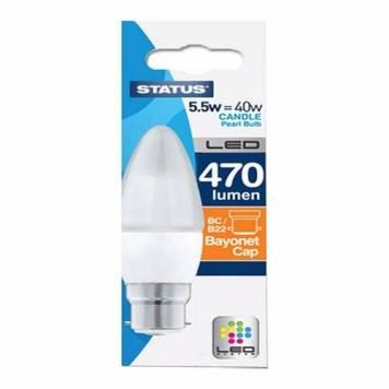 Status 5.5W LED Candle Bulb - Bayonet Cap
