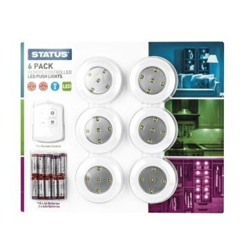 Status 6 Multi-Purpose LED Lights with Remote