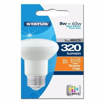 Status 8W R63 LED Edison Screw Reflector Bulb