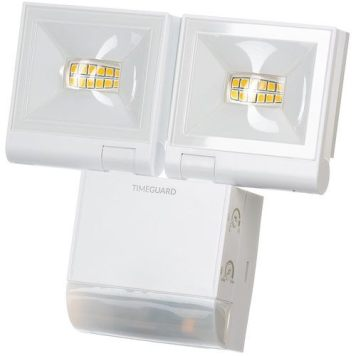 Timeguard 2 x 10W LED Compact PIR Floodlight - White