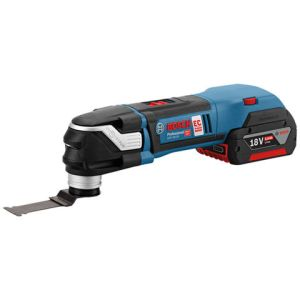 Bosch Bosch GOP 18 V-28 Professional 18V Multi-Cutter (2 x 2.0 Ah Batteries, GAL 1880 CV Charger + 16 Accessories) in an L-BOXX
