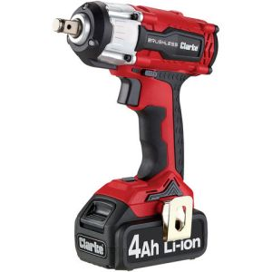 "Clarke Clarke CIR18LI 1/2"" Drive 18V 450Nm Brushless Impact Wrench with 4Ah Battery"