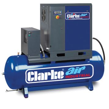 Clarke Clarke CXR15RD 53cfm 270Litre 15HP Industrial Screw Compressor with Air Receiver & Dryer (400V)