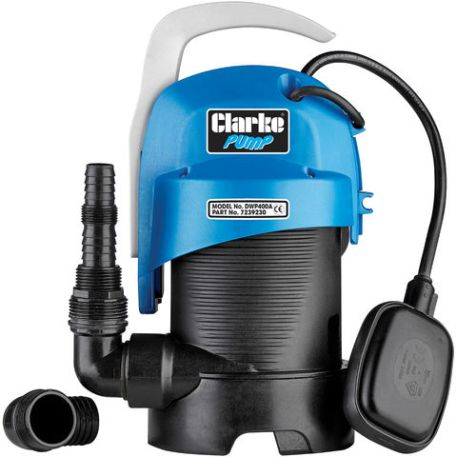 """Clarke Clarke DWP400A 1¼"""" 440W 140Lpm 7m Head Clear and Dirty Water Submersible Pump with Float Switch (230V)"""