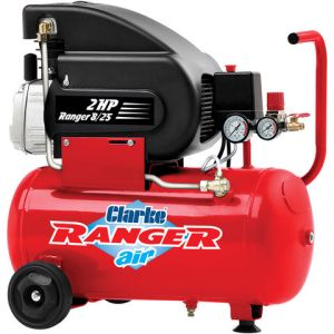 Clarke Clarke Ranger 8/25 7cfm 24Litre 2HP Air Compressor (230V)