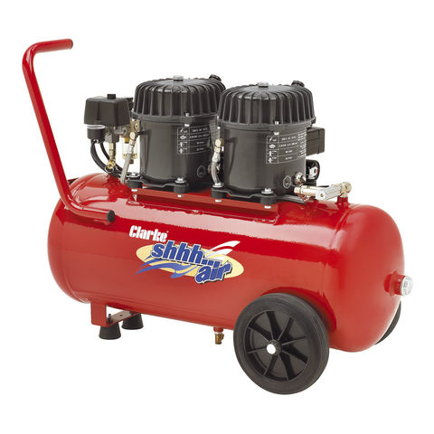 Clarke Clarke Shhh Air 100/50 3.53cfm 50Litre 0.9HP Quiet Run Compressor (230V)