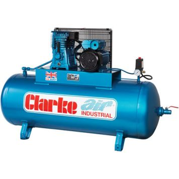 Clarke Clarke XE18/200 (WIS) 18cfm 200Litre 4HP Industrial Air Compressor (400V)