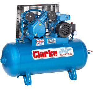 Clarke Clarke XEV16/100 (OL) 14cfm 100Litre 3HP Industrial Air Compressor (230V)