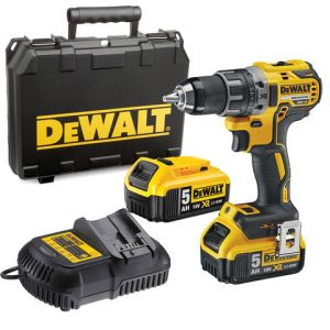 DeWalt DeWalt DCD791P2 18V XR Li-Ion Compact Drill Driver with 2x5.0Ah Batteries