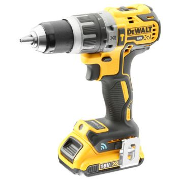 DeWalt DeWalt DCD797D2B-GB 18V XR Brushless Tool Connect Hammer Drill & 2Ah Battery