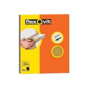 Flexovit Glasspaper Sanding Sheets 230 x 280mm Grade OO (25)