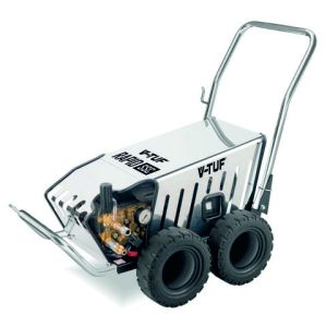 Machine Mart Xtra V-TUF Heavy Industrial Stainless Mobile Cold Pressure Washer 80 BAR @ 12L/Min (110V)