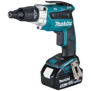 Makita Makita DFS251RTJ 18V LXT BL Cordless Screwdriver with 2 x 5Ah Batteries