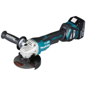 Makita Makita DGA517RTJ 18V LXT BL Cordless 125mm Angle Grinder with 2 x 5.0Ah batteries
