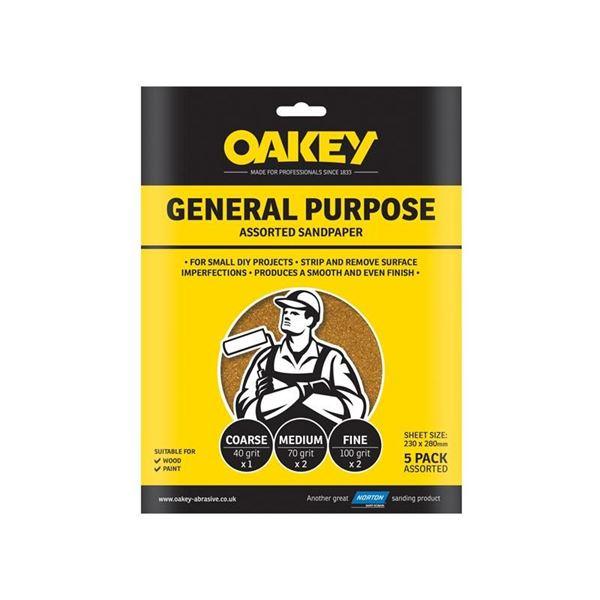 Oakey Glasspaper Sanding Sheets 230 x 280mm Grade 3 (25)