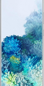 Samsung Galaxy S20 5G (128GB Blue) at £49.00 on Red with Entertainment (24 Month(s) contract) with UNLIMITED mins; UNLIMITED texts; 24000MB of 5G data. £66.00 a month.