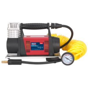 Sealey Sealey MAC06 12V Heavy-Duty Tyre Inflator/Mini Air Compressor 7.5m Hose