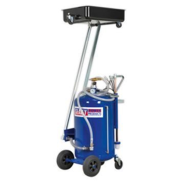 Sealey Sealey Mobile Oil Drainer with 100L Cantilever Air Discharge and Probes