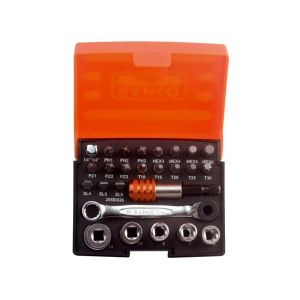 Bahco 2058/S26 Ratchet Socket Set of 26 Metric 1/4in Drive