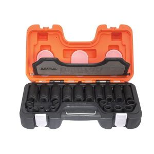 Bahco D-DD/S20 Mixed Impact Socket Set of 20 Metric 1/2in